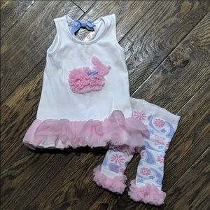 Mud Pie Easter outfit sz 2/3 Beautiful